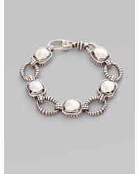 Lagos | Metallic Sterling Silver Rock & Circle Link Bracelet | Lyst