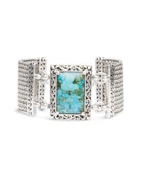 Lois Hill | Metallic Turquoise Toggle Bracelet | Lyst