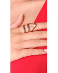 Made Her Think - Pink X-ray Stacked Helmut Ring - Lyst