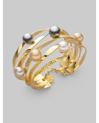 Majorica | Metallic 10mm Multicolor Pearl Bracelet | Lyst