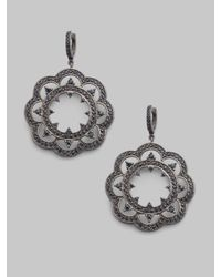 M.c.l  Matthew Campbell Laurenza | Black Sapphire & Sterling Silver Lace Drop Earrings | Lyst