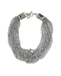 MICHAEL Michael Kors | Metallic Michael Kors Multi Chain Necklace | Lyst