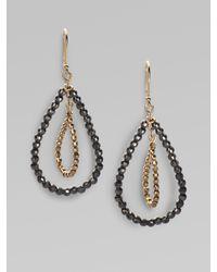 Mizuki - Metallic 14k Gold & Sterling Silver Double Marquis Hoop Earrings - Lyst