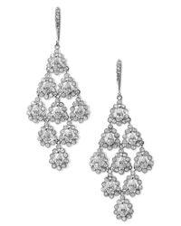 Nadri | White Tiered Chandelier Earrings | Lyst