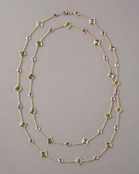 Paolo Costagli - Metallic Peridot & Pink Sapphire By-the-yard Necklace - Lyst