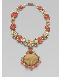 Ranjana Khan | Pink Coral & Mother-of-pearl Bead Necklace | Lyst