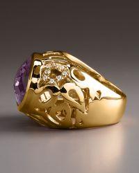 Roberto Coin - Metallic Amethyst Mauresque Ring - Lyst