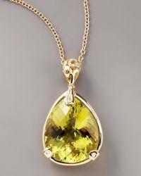 Roberto Coin | Metallic Lemon Quartz Mauresque Necklace | Lyst