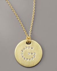 Roberto Coin | Metallic Letter Medallion Necklace, G | Lyst