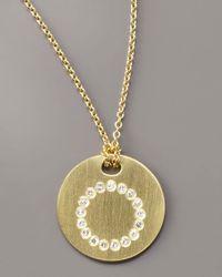 Roberto Coin - Metallic Letter Medallion Necklace, O - Lyst