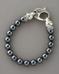 Stephen Webster - Metallic Ravens Head Bead Bracelet for Men - Lyst