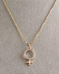 Sydney Evan | Metallic Female Symbol Pendant Necklace | Lyst