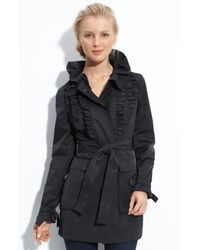 T Tahari | Black Mandy Coat | Lyst