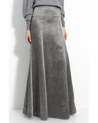 Theyskens' Theory | Gray Smuta Fluted Skirt | Lyst