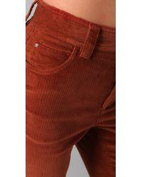 Alice + Olivia | Orange Corduroy High Waist Flare Pants | Lyst