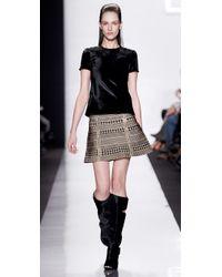 Hervé Léger - Black Houndstooth Bandage Skirt - Lyst