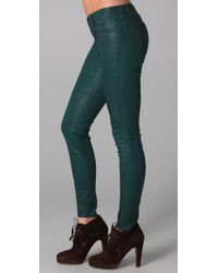J Brand - Green 901 Coated Legging Jeans - Lyst