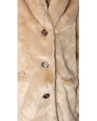 MINKPINK | Natural Double Agent Fur Coat | Lyst