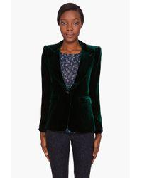 Smythe | Green Velvet Smoking Jacket | Lyst
