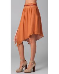 The Addison Story - Orange Belted Skirt - Lyst