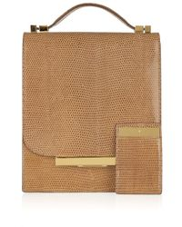 The Row | Brown Lizard Classic Flap Bag | Lyst