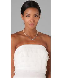 Tom Binns | White Pearls in Peril Strand Necklace | Lyst
