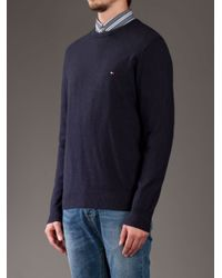 Tommy Hilfiger | Blue Sweater for Men | Lyst