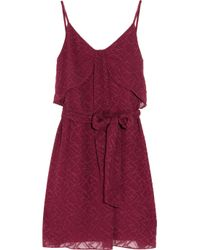 Vanessa Bruno Athé - Embroidered Silk and Cotton-blend Dress - Lyst
