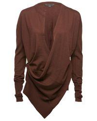 Alexander Wang Purple Draped Wrap Cardigan