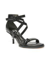 Alexander Wang - Black Maddie Leather Sandal - Lyst