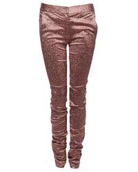 Alexander Wang - Pink Glitter Drainpipe Pant - Lyst
