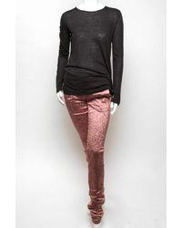 Alexander Wang | Pink Glitter Drainpipe Pant | Lyst