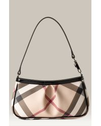 Burberry   Beige Small Check Print Shoulder Bag   Lyst