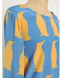 Charlotte Taylor | Blue Silk Penguin Blouse  | Lyst