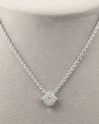 Charriol - White Square Diamond Necklace - Lyst