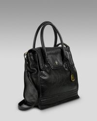 Cole Haan | Black Brooke Flap Tote | Lyst