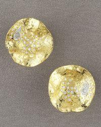 Coomi | Metallic Serenity Stud Earrings, Small | Lyst