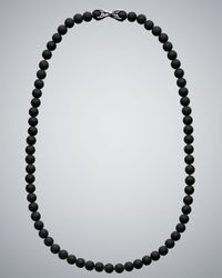 David Yurman | Black Onyx Spiritual Bead Necklace for Men | Lyst