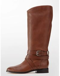 Dolce Vita - Brown Georgia Buckled Leather Boots - Lyst