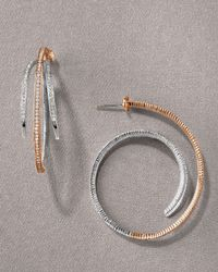 Doris Panos - Metallic Destiny Two-tone Earrings - Lyst