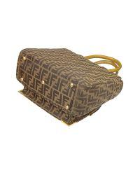 Fendi | Brown Classico No. 3 Zucca Print Handbag | Lyst