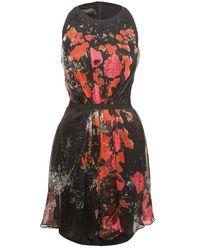 Giambattista Valli - Black Intarsia Wool And Cashmere-blend Mini Dress - Lyst