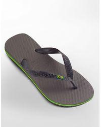 Havaianas - Gray Brazil Flip-flops for Men - Lyst