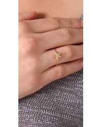 Jacquie Aiche - Metallic Large Star & Diamond Waif Ring - Lyst