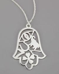 Jennifer Zeuner | Metallic Good Luck Pendant Necklace | Lyst
