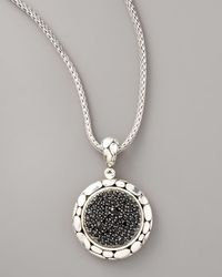 John Hardy | Black Kali Lava Fire Sapphire Pendant | Lyst