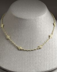 Judith Ripka - Metallic Flame Chain Necklace - Lyst