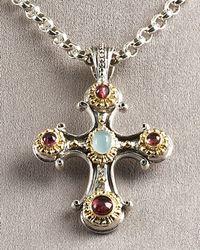 Konstantino | Metallic Cross Pendant | Lyst