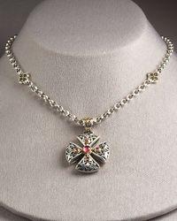 Konstantino - Metallic Ornate Cross Pendant - Lyst