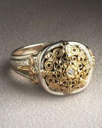 Konstantino - Metallic Ornate Diamond Ring - Lyst